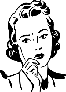 Source: http://openclipart.org/detail/181754/worried-woman-by-liftarn-181754